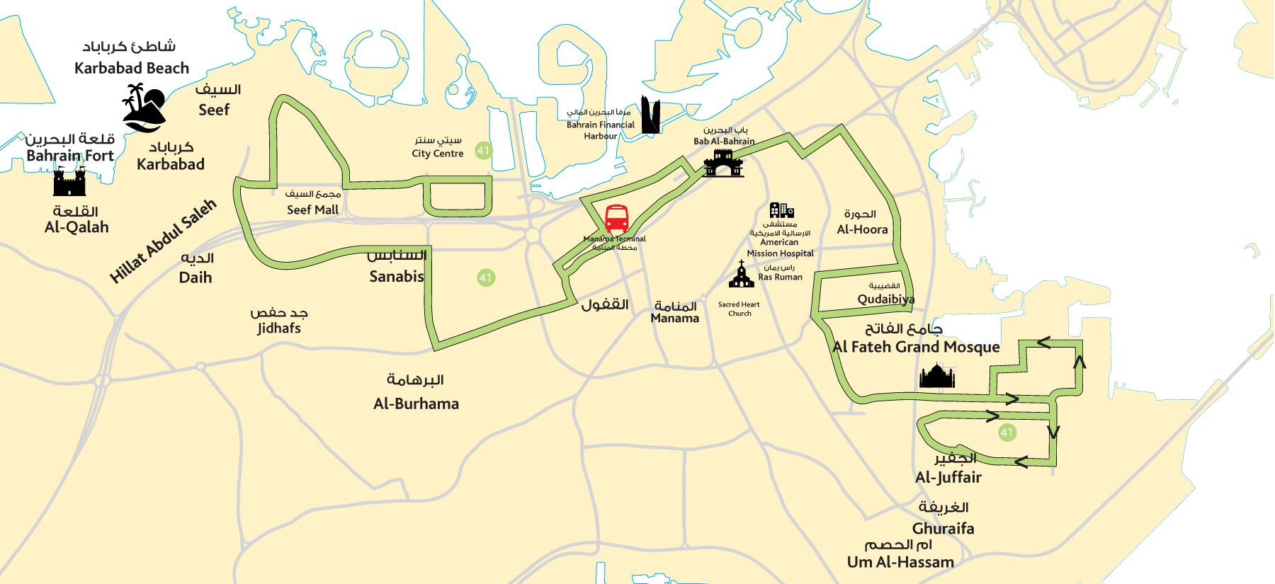 bahrain city center map City Center Bahrain Map Map Of City Center Bahrain Western Asia bahrain city center map
