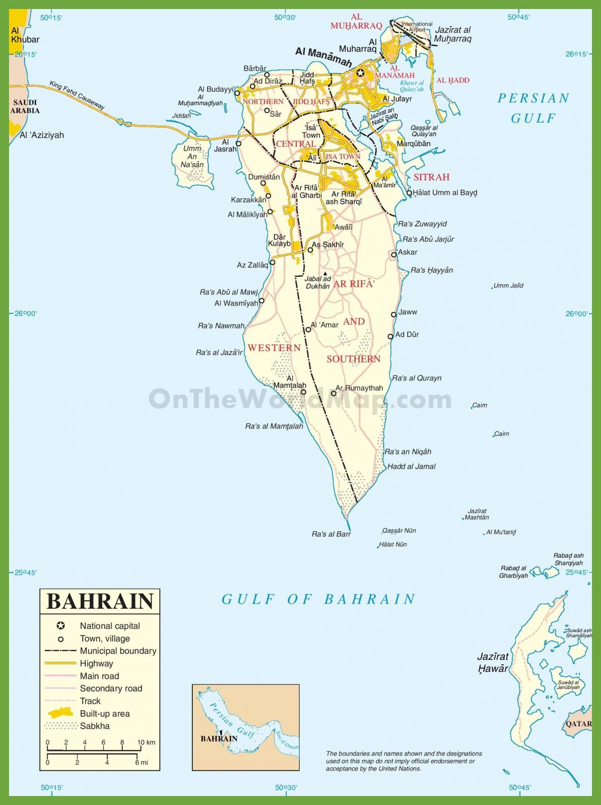 Bahrain cities map