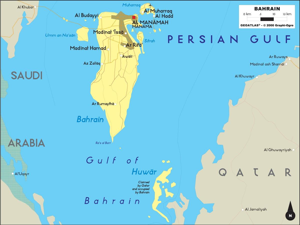 map of Bahrain offline