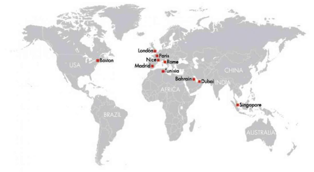 Bahrain on world map - Bahrain in map of the world (Western Asia - Asia)