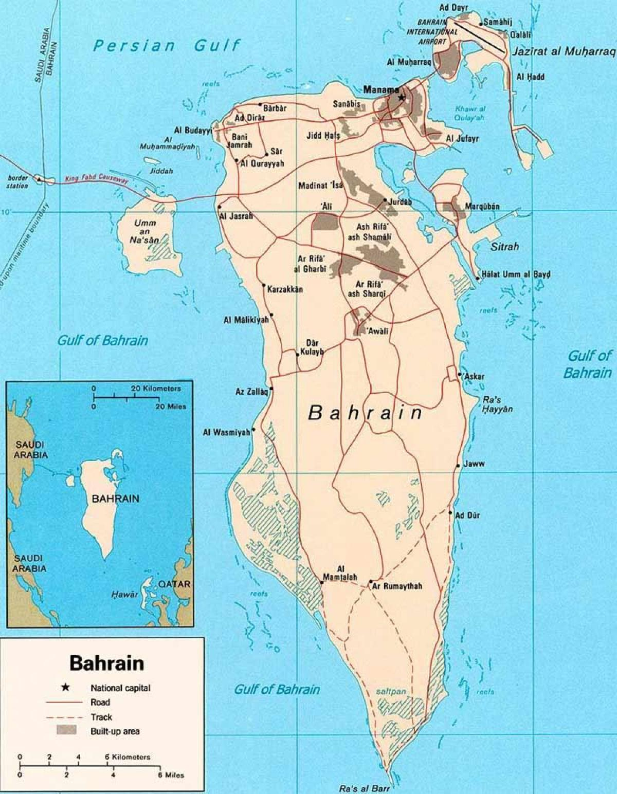 Bahrain roads map