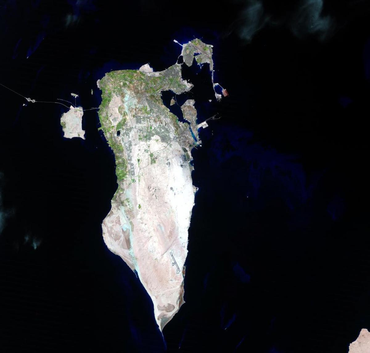 map of Bahrain satellite