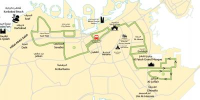 Map of city center Bahrain