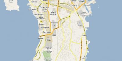 Map of street map of Bahrain